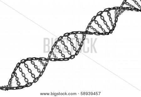 Dna Helix Metal Chain Link