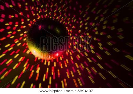 Disco Ball Red - Yellow