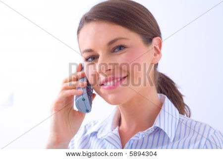 Woman On A Phone