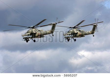 Russian military helicopters Mi-28