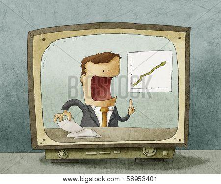 Business news on TV