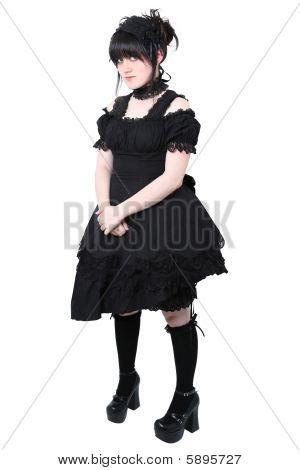 Gosurori Gothic Lolita Japanese Fashion With Clipping Path