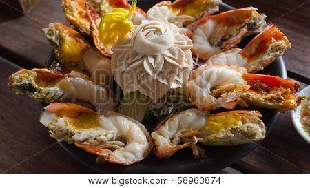 Shrimp Cooked Half Burned