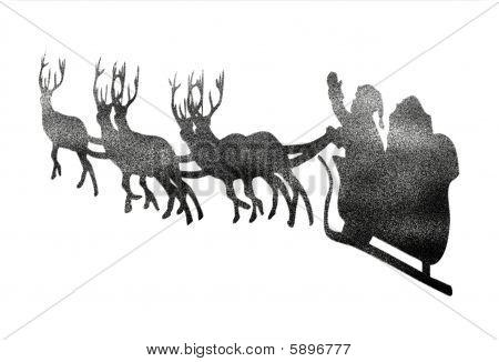 Santa reindeer snow
