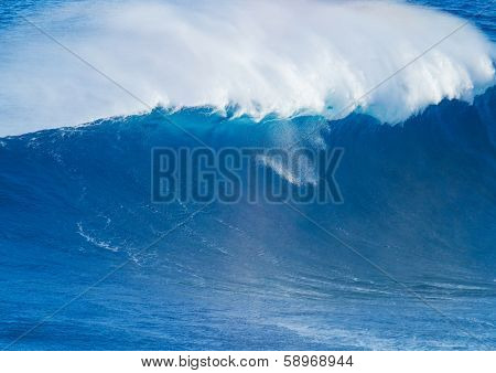 Giant Blue Ocean Wave
