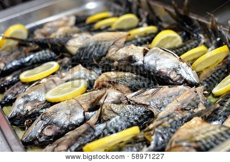smoked fish ready for birthday party