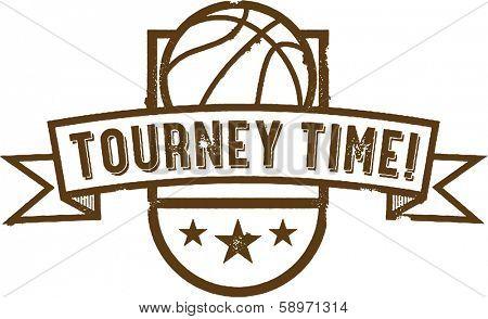 Vintage Basketball Tournament Graphic