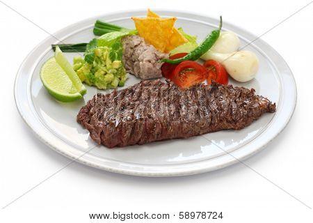 arrachera, mexican spiced skirt steak poster