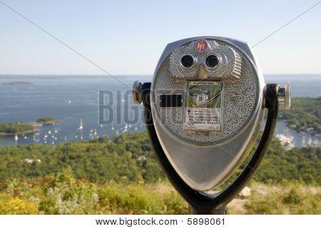 Coinop Telescope Over Penobscot Bay