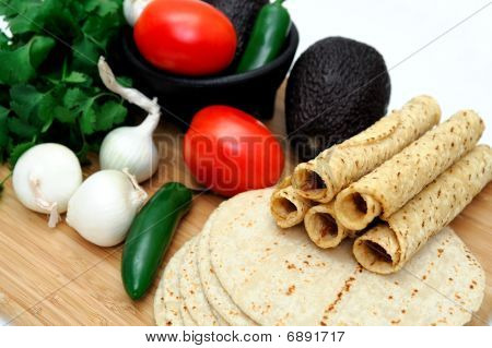 Taquitos And Vegetables