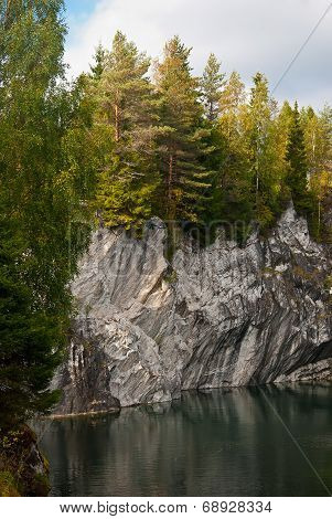 Forest Lake In The Rocks