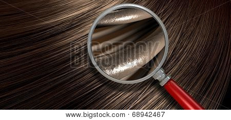 Brown Hair Blowing With Magnification