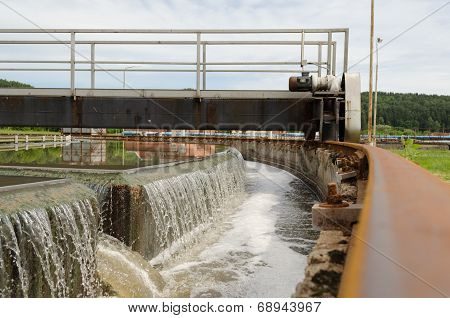 Sewage Treatment Mechanism Spin Filter Water