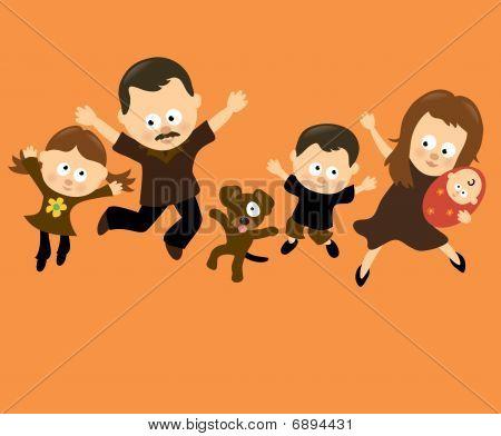 Familie springen 3