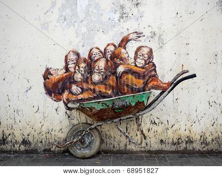 Street Art In Kuching, Sarawak, Malaysia