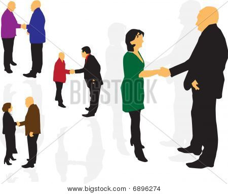 People handshaking