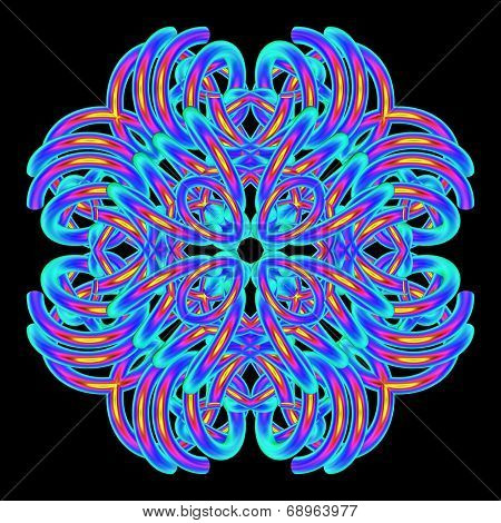 Bright Floral Mandala