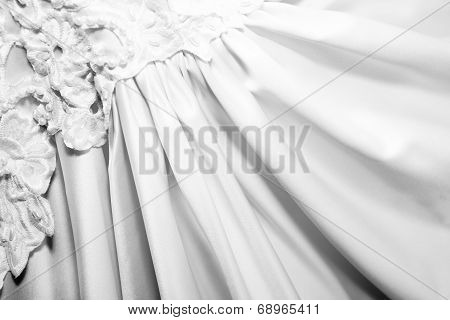 Background Of Fanned Out Bridal Gown