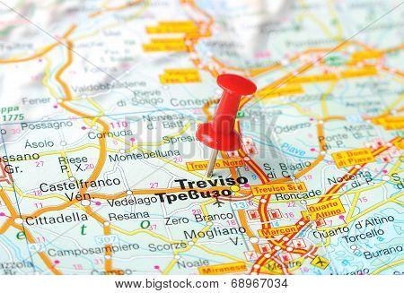 Treviso  Italy Map