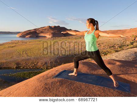 Yoga Girl Lake Powell