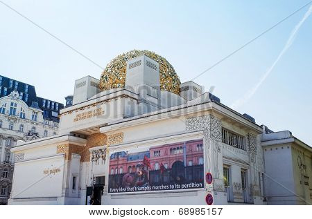 VIENNA, AUSTRIA-July 4 : Vienna Secession Building was formed in 1897 by a group of Austrian artists. Vienna Secession on July 3, 2014.Vienna, Austria