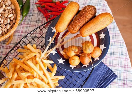 Corndog with french fries