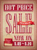 retro hot price sale marketing poster template poster
