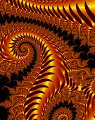 Abstract fractal snakes in metallic bronze poster