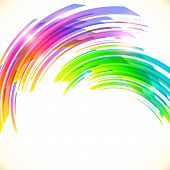 Rainbow colors abstract bows vector shining background poster