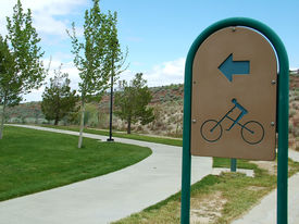 Bike Path In Sky