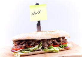 Sandwich With Note Diet
