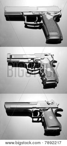 Three Handguns