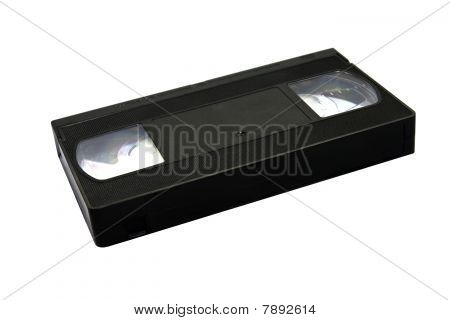 The black old cartridge for the videorecorder