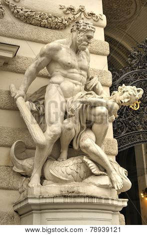 Hercules Statue - Vienna, Austria