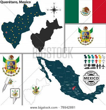 Map Of Queretaro, Mexico