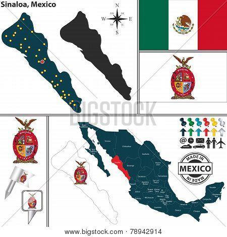 Map Of Sinaloa, Mexico