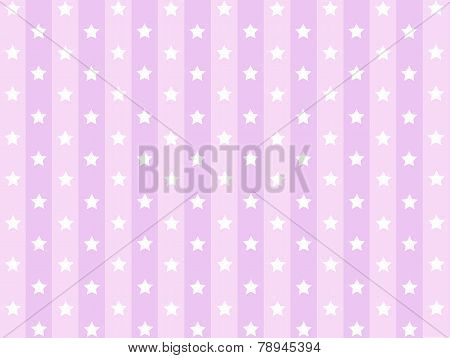 Little Stars with pink striped line pattern