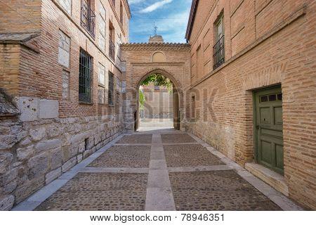 Main entrance of Santa Clara Convent in Tordesillas poster