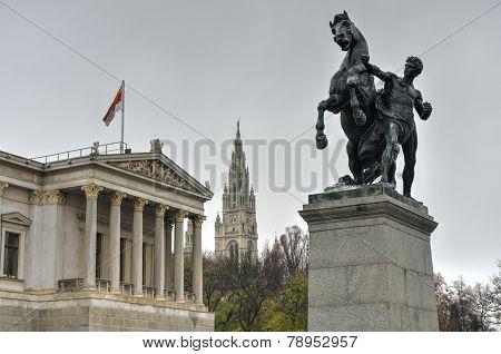 The Austrian Parliament In Vienna