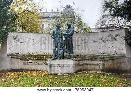 Memorial Statue Of Joseph Lanner And Johann Strauss The Elder, Vienna