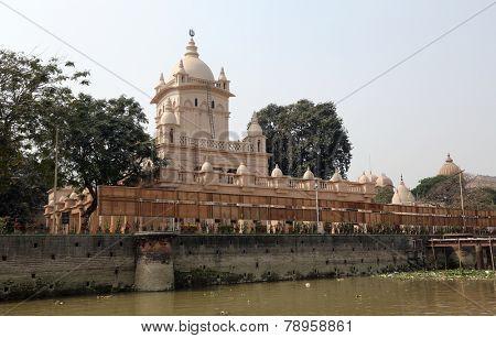 KOLKATA, INDIA - 14th FEBRUARY 2014: Belur Math, headquarters of Ramakrishna Mission, founded by philosopher Vivekananda.