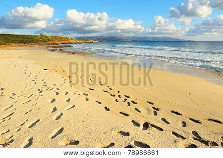 Footprints On Le Bombarde Beach