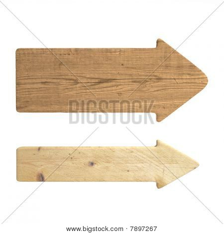 Directional Wood Signs
