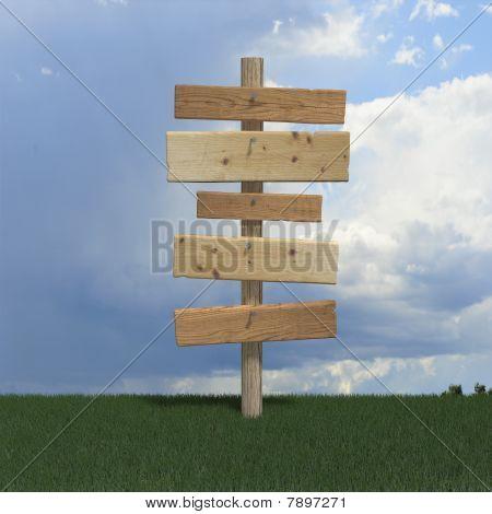 alten Holz-Schild