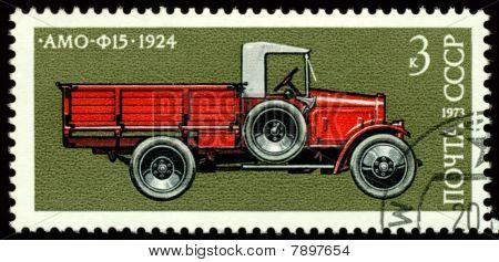 Vintage Postage Stamp. Car  Amo - F15 - 1924.
