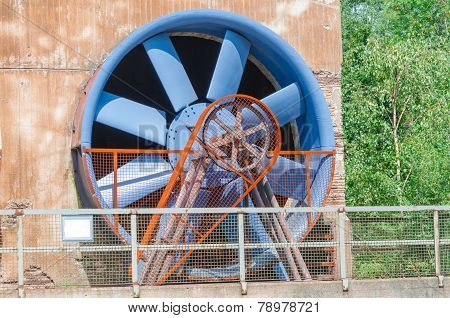 Industrial Building, Cooling Tower, Rotor