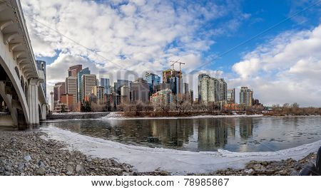 Bow River and Calgary skyline