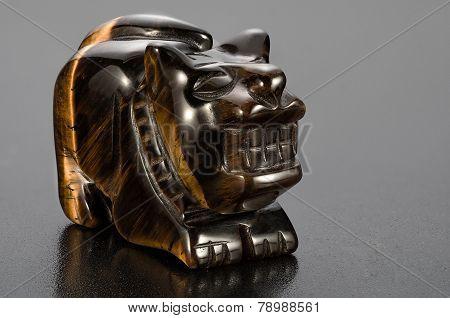 Tiger-eye Tiger Statuette