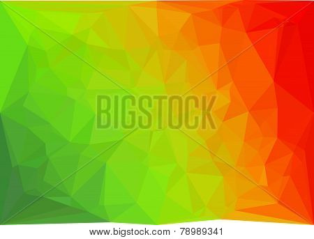 vector geometric red and green triangles background