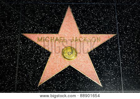Michael Jackson Star On The Hollywood Walk Of Fame